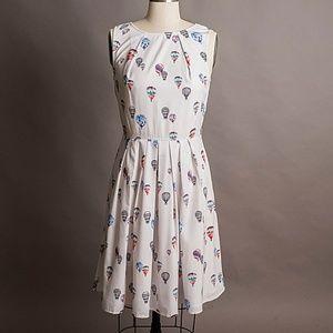Eshakti hot air balloon print dress w/pockets - 8